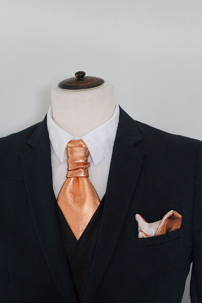 copper ascot neck tie necktie formal attire set