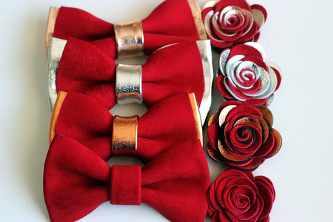 10 Best Groomsmen Gifts for 2020, Suit Up Groomsmen Gift Set – Inexpensive & Cool Gift for Guys, Crimson red prom wedding grooms boys Bow Tie, A Fun Groomsmen Gift Idea groomsmen silver bow tie set, prom