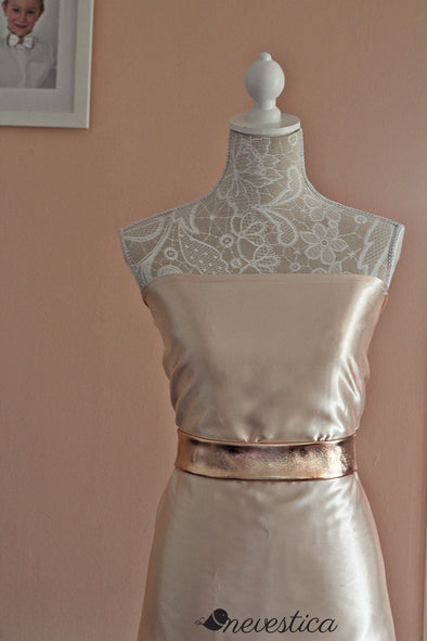 wedding Rose Gold belt sash, dress accessories, Rose Gold Wedding Vintage satin dusty sash, rose gold wedding accessories, copper wedding accessories, leather bel