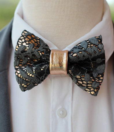 Gray Lace and rose gold leather bow tie mens wedding set, groomsmen rose gold gift, pocket square. Boys prom set, Rose Gold gray grey lace leather bow tie for men,boys rose gold wedding bow tie, boutonniere, genuine gold leather bow tie, gray lace set, prom bow tie, groomsmen wedding gift attire, nevestica nevestisa design, boho wedding design, lace prom wedding dress