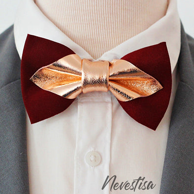 burgundy red, deep red, maroon bow tie mens wedding set, rose gold bow tie , rose gold weddind style, groomsmen burgundy set, suspeders