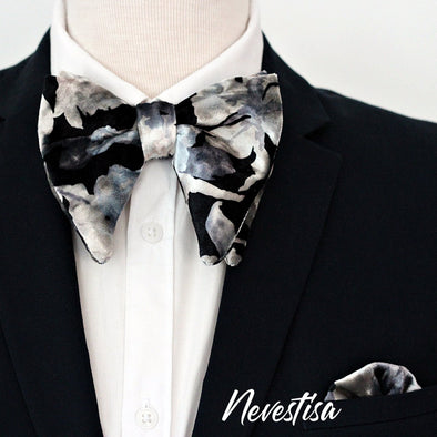 Black velvet bow tie mens wedding set, groomsmen rose gold gift, pocket square. Boys prom set. Black classic Velvet Bow Tie, silver velvet formal oversize prettied elegant purple bow tie wedding, prom,black mens boys prom formal tuxedo
