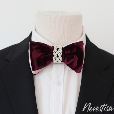 Deep Purple violet VELVET Tie Prettied regula Bow Tie set, boho wedding Rose Gold Bow Tie, boutonniere Bow Tie velvet Groom prom purple crystal boutonniere, lapel flower pin set, groomsmen gift, formal attire, Deep Purple violet VELVET Tie Prettied oversized Bow Tie set,boho wedding blush pink boutonniere BowTie velvet Groom boys prom royal purple