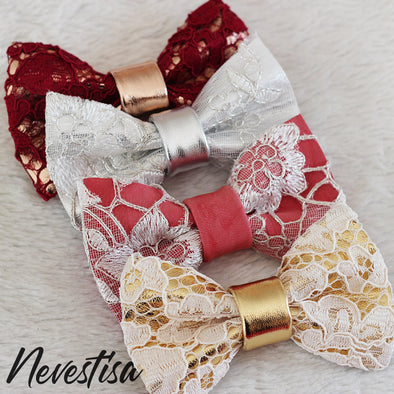 Burgundy Lace and rose gold leather bow tie mens wedding set, groomsmen rose gold gift, pocket square. Boys prom set, Rose Gold white lace leather bow tie for men,boys rose gold wedding bow tie, boutonniere, genuine gold leather bow tie, white lace set, prom bow tie, groomsmen wedding gift attire, nevestica nevestisa design,coral  boho wedding design, gold fromal bow tie prom wedding dress