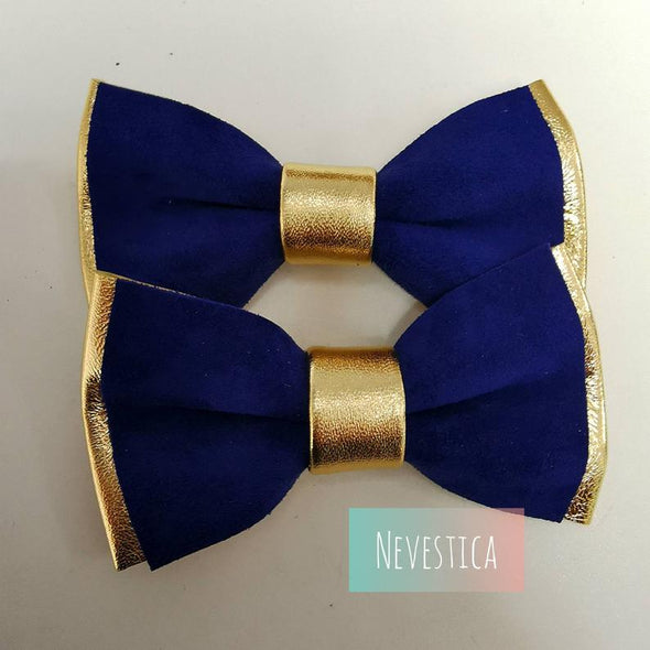navy classic blue Gold leather bow tie, lapel flower wedding prom groomsmen groom formal attire set, Navy blue and Gold mens leather bow tie for men, gold wedding bow tie, genuine leather bowtie, gold groomsmen attire gift toddler, boys prom, gold boutonniere, nevestica nevestisa design