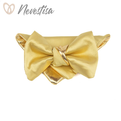 Mellow yellow Gold bow tie set, mens gift, wedding, boys prom bow tie set, groomsmen wedding gift light yellow formal gold regular bow tie