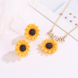 "Limited Release: ""You Are My Sunshine"" Sunflower Necklace"