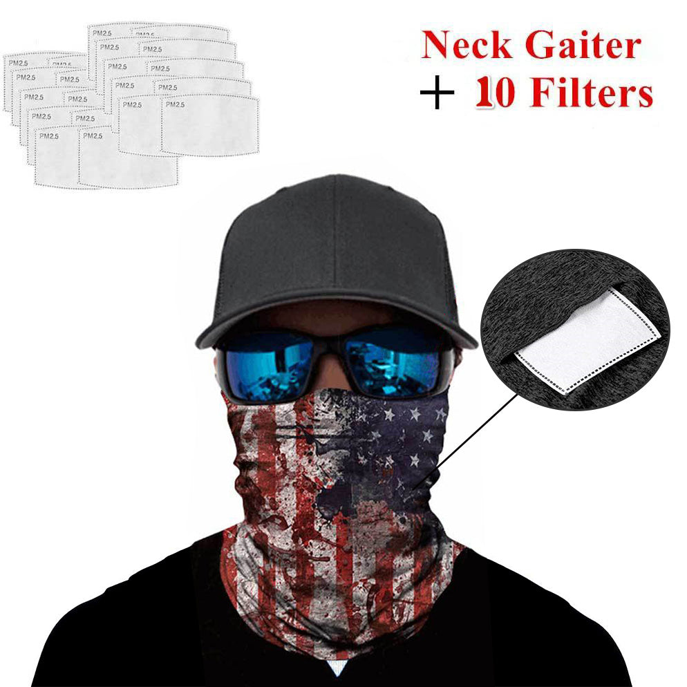 Ice Silk Bandana with Safety Filters Flag