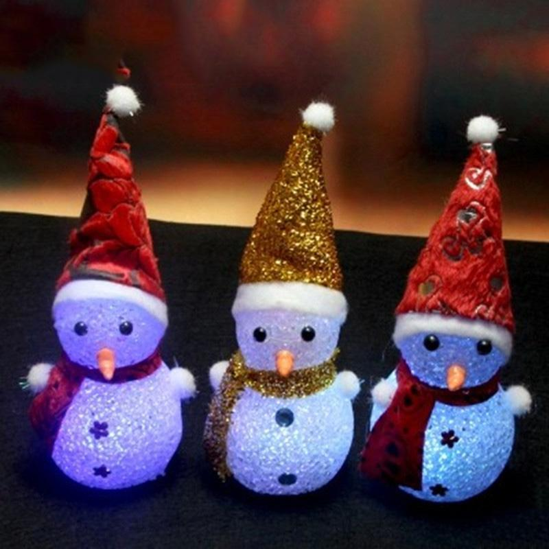 Novelty  LED Glowing Christmas Snow little man
