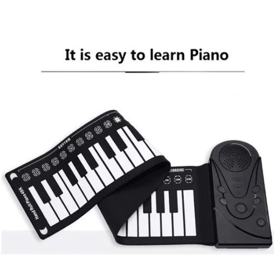 [Best gift❤️]Portable Roll-Up Flexible Electronic Piano Keyboard