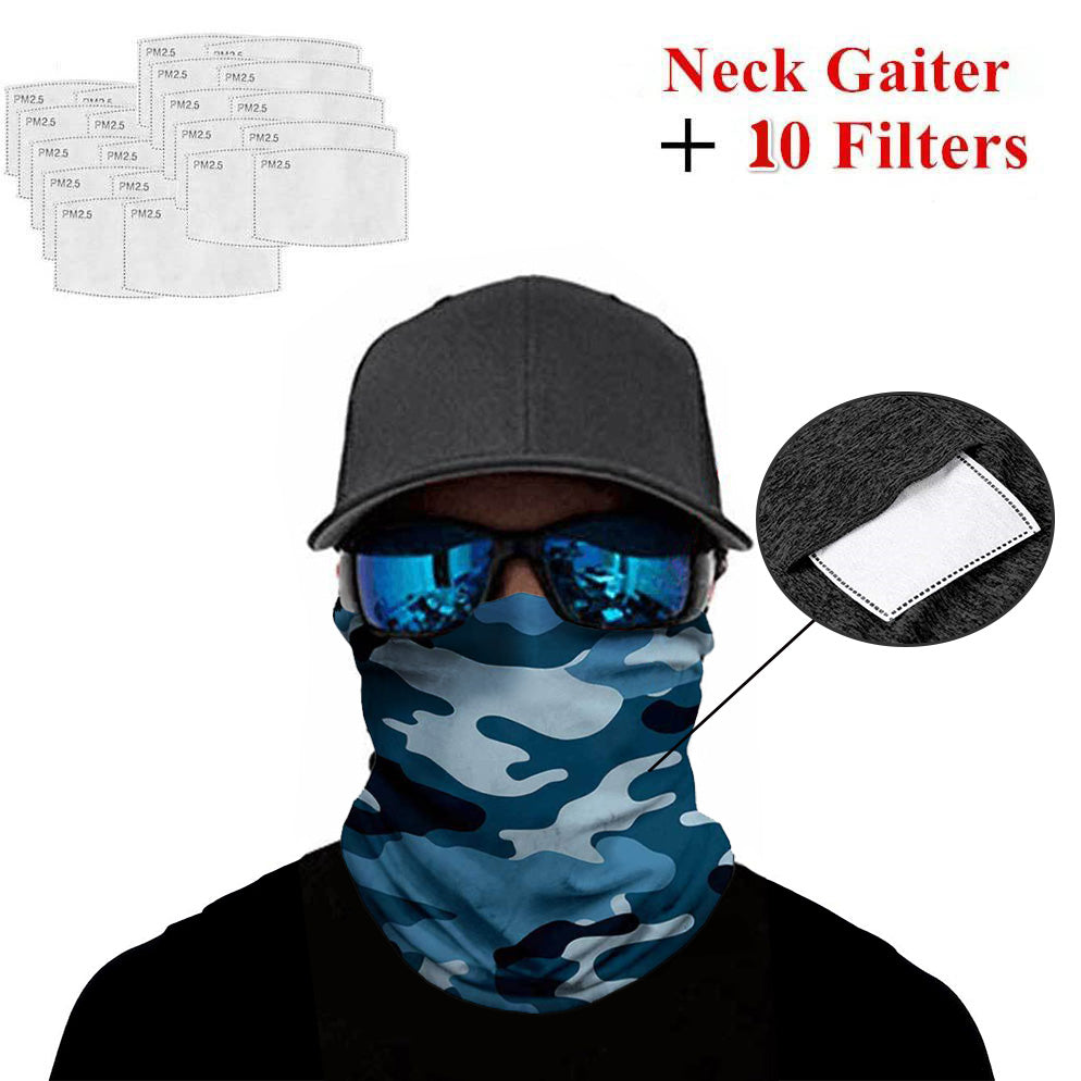 Ice Silk Bandana with Safety Filters camouflage
