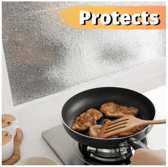Kitchen Oil-proof Aluminum Sticker, Buy 1 get 1 Free Today