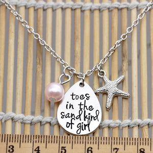 Toes In The Sand Kind of Girl Pink Necklace