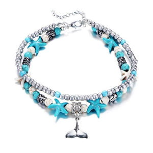 (Best Seller) Handmade Sea Star & Turtle Anklet, Buy 2 FREE Shipping