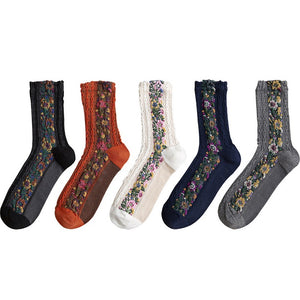 The perfect gift for elegant women - jacquard fashion socks