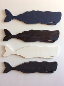 large wooden whale nautical decor navy blue whale
