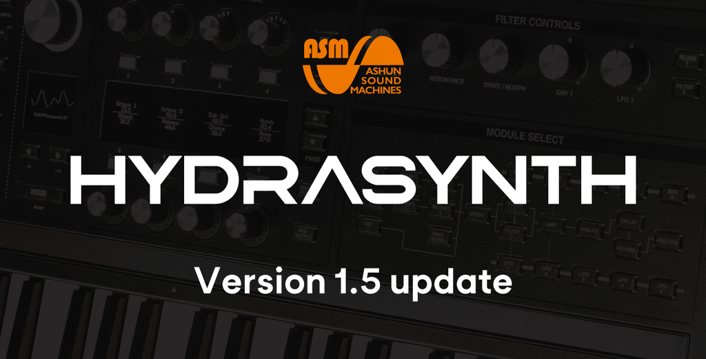 Ashun Sound Machines HYDRASYNTH Keyboard/Desktop Version 1.5 update