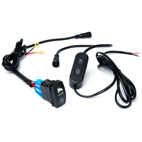 Xprite Wiring Harness with 2 Switches For LED Chase Rear Strobe Light Bars