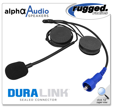 Alpha Audio Offroad Helmet Kit