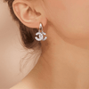 C-Shape Chic Zircon Earrings