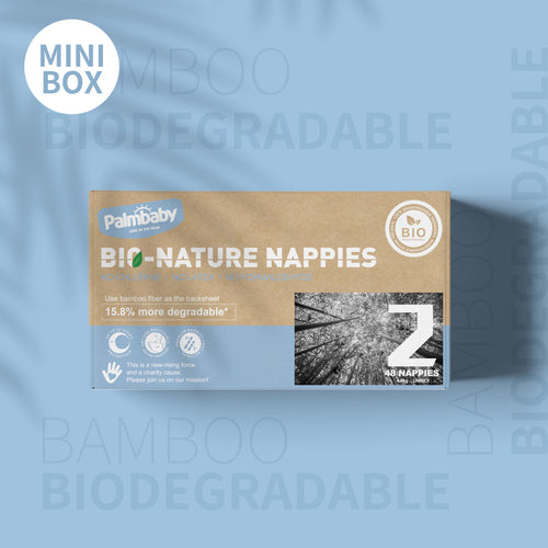 Palmbaby Bio-Nature Nappies,Size 2(4-8kg),48 Count