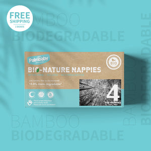 Palmbaby Bio-Nature Nappies,Size 4(9-14kg),102 Count
