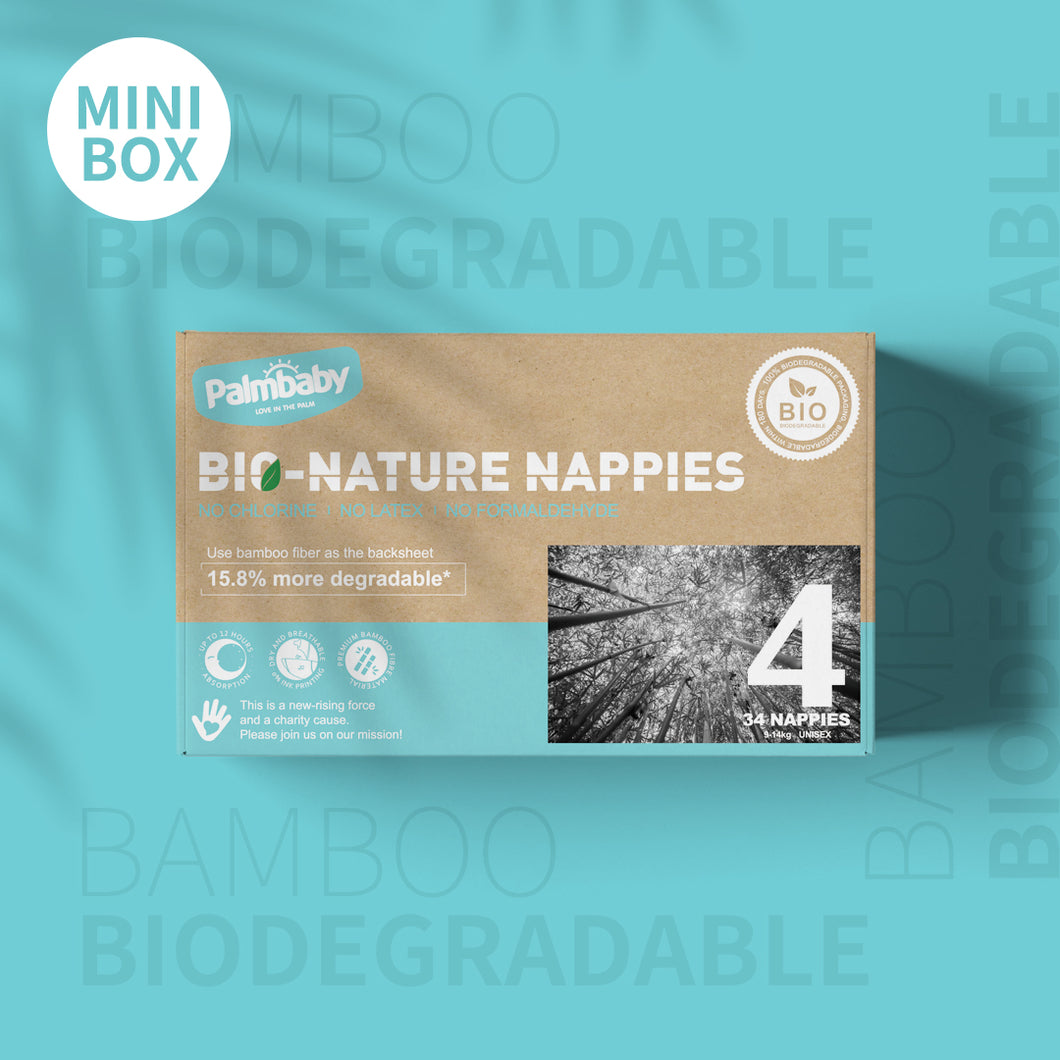 Palmbaby Bio-Nature Nappies,Size 4(9-14kg),34 Count