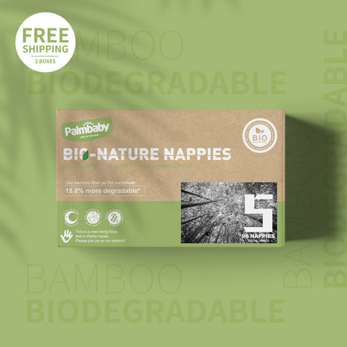Palmbaby Bio-Nature Nappies,Size 5(12-17kg),96 Count