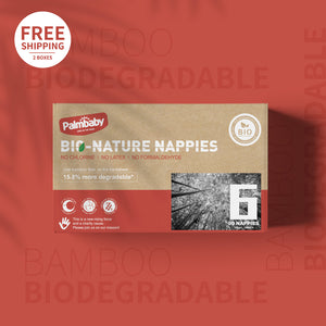 Palmbaby Bio-Nature Nappies,Size 6(16kg+),90 Count