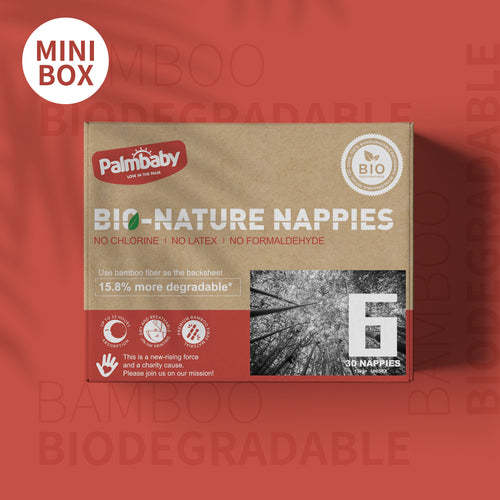 Palmbaby Bio-Nature Nappies,Size 6(16kg+),30 Count