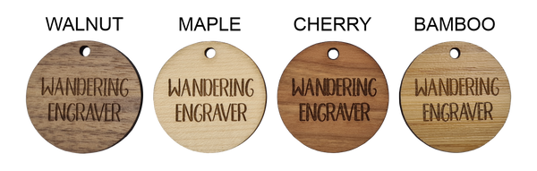Wood Gift Tags Different wood types