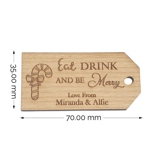 Personalised Wood Christmas Gift Tags