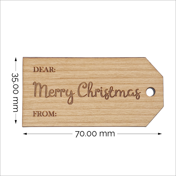 Write On Wood Christmas Gift Tags
