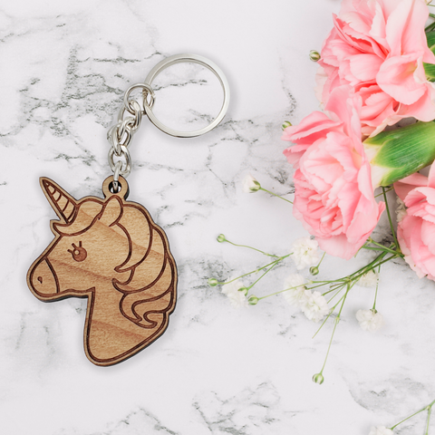 Unicorn Key Ring | Solid Wood
