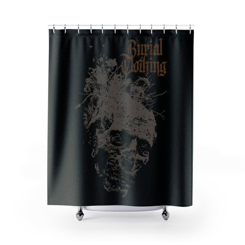 ROT.WITH.ME Shower Curtain - Burial Clothing