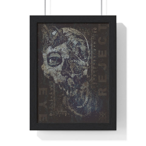 Eye Reject Framed Print - Burial Clothing