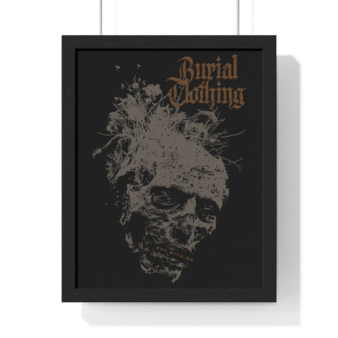 ROT.WITH.ME Framed Print - Burial Clothing