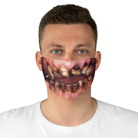 Gnarly Teeth Face Mask - Burial Clothing