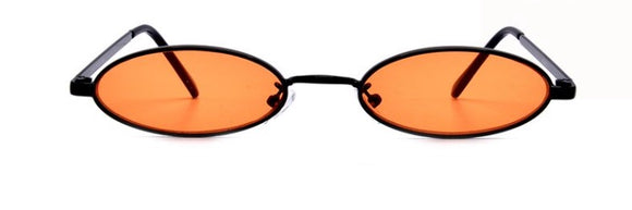 90's Oval Shades in Orange