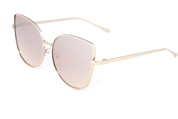 Silver Wire Cat Eye Mirror Lenses