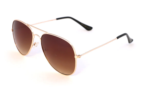 Gold Aviator Fade Lenses