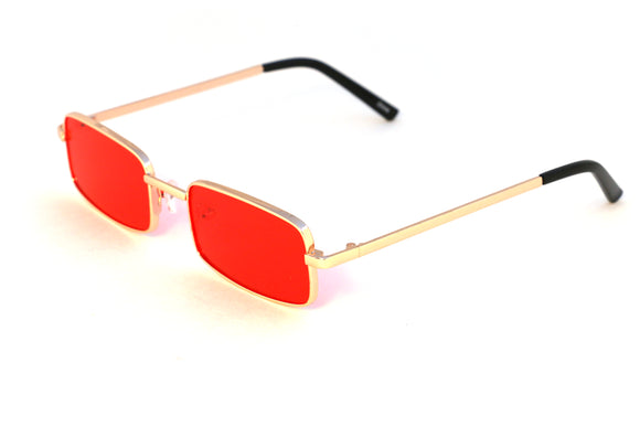 90's Rectangle Shades in Red