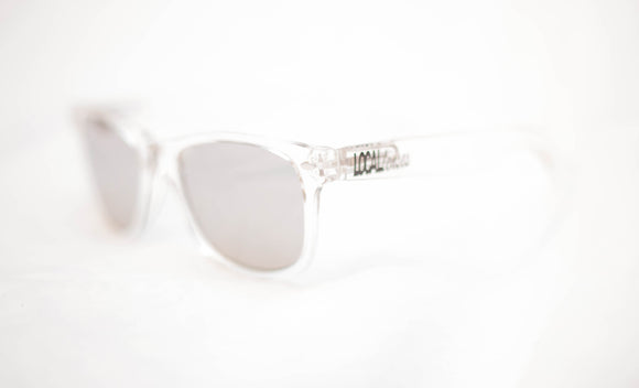 Clear frame Classics with Mirror Lenses