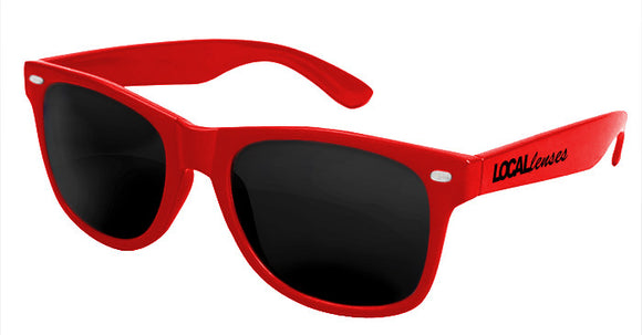 Local Lenses Red Classic Sunglasses
