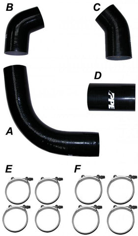 PPE SILICONE HOSE & CLAMP KIT (2002-2004 GM)