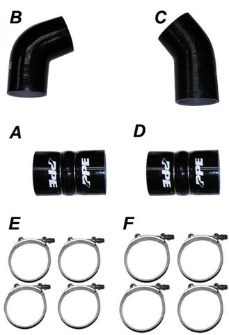 PPE SILICONE HOSE & CLAMP KIT (2004.5-2005 GM)