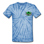 ACES TURBO TIE-DYE T-SHIRT - spider baby blue