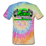 ACES TURBO TIE-DYE T-SHIRT - rainbow