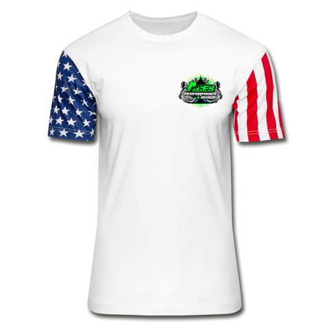 ACES TURBO STARS AND STRIPES T-SHIRT - white