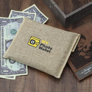 Men's Bifold Custom Photo Wallet Brown